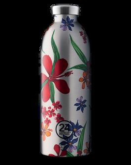 24Bottles Thermosflasche 0,85l Edelstahl Silber Blume