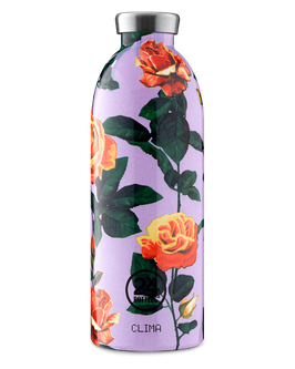 24Bottles Thermosflasche 0,85l Edelstahl Lila Blume