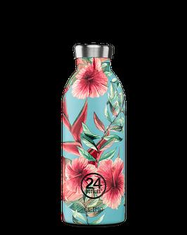 24Bottles Thermosflasche 0,5l Edelstahl grüne Blume