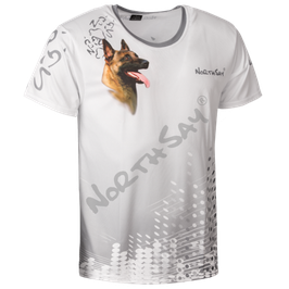 T-Shirt Pearl White &Hund Gr. L