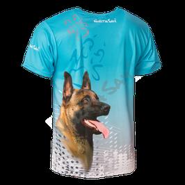 T-Shirt Pearl Türkis mit Hundemotiv Gr. XS