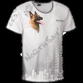T-Shirt Pearl White mit Hundemotiv Gr. XS