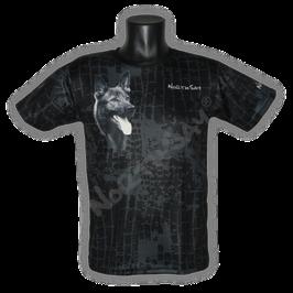 T-Shirt Icecube black mit Hundemotiv Gr. XS
