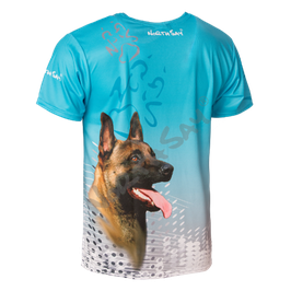 T-Shirt Pearl Türkis &Hund Gr. XL