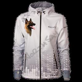 Softshelljacke Pearl White mit Hundemotiv Gr. XS