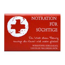 """NOTRATION"" Edelschokolade, 80g"