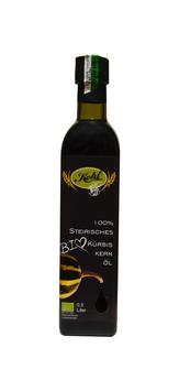 100% steirisches BIO Kürbiskernöl, 0,5 Liter, Fam. Kohl