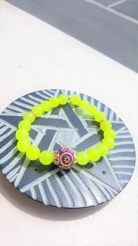 bracelet gemmes agate fluo