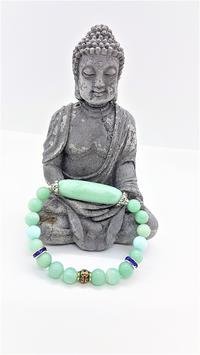 bracelet amazonite perle tube centrale amazonite
