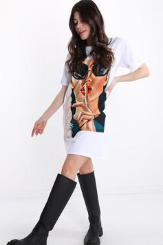 T-Shirt En Soie Lurex Imprimé Mixte gigi