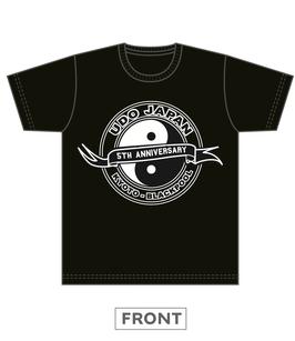 UDO JAPAN 5周年記念 背中縦書Tシャツ ブラック☆2019