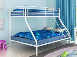 Kinder Etagenbett Hochbett Jugend Doppelstockbett 200x140/200x90cm Metall