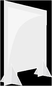Acryl-Spuckschutz Standard, 60 x 90 cm mit Durchreiche