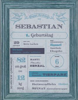 Vintage-Poster zum Geburtstag BOY