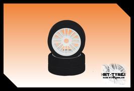 Pro 10 Feucht - Frontreifen 200mm - Paar Nylon Weiss