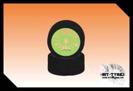 Pro 10 Frontreifen 235mm - Paar Nylon Gelb