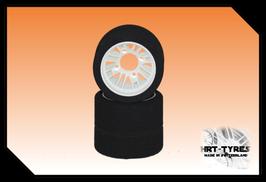 Swiss-GT Pro 10 Heckreifen 200mm - Paar Nylon Weiss