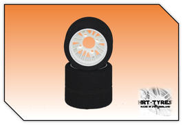 Pro 10 Heckreifen 235mm - Paar Nylon Weiss