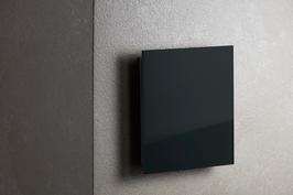 Ventilatie rooster vierkant zwart glas met magneten