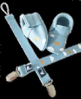 Schnullerband Cloudy Babyblau
