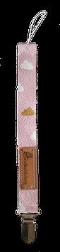 Schnullerband Cloudy Rosa