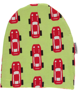 Maxomorra Mütze Autos grün/rot
