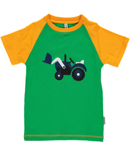Maxomorra T-Shirt Traktor Druck grün  Nr. 5