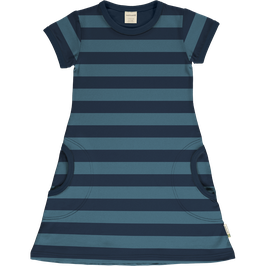 Maxomorra  KA Kleid Streifen blau
