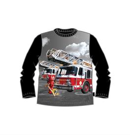 Me Too LA-Shirt Feuerwehr schwarz