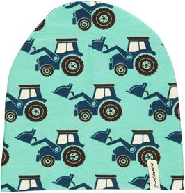 Maxomorra Mütze Traktor türkis Nr.4