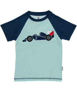 Maxomorra T-Shirt Rennwagen Druck