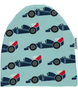 Maxomorra Mütze Rennwagen blau