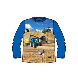 Me Too LA-Shirt Traktor blau