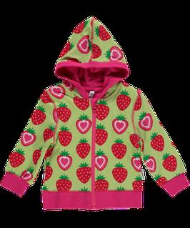 Maxomorra Sweat Jacke Erdbeere