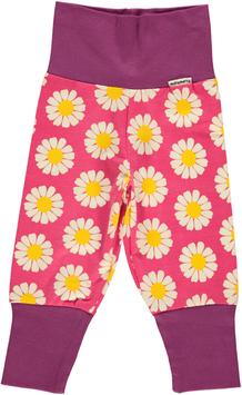 Maxomorra Hose mit Wickelbund Daisy pink für Minis