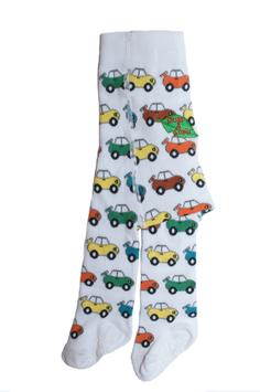 Slugs & Snails Strumpfhose Autos weiß/multi