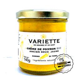 Crème de poivron doux jaune BIO