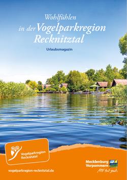 """Urlaubsmagazin """"Wohlfühlen in der Vogelparkregion Recknitztal"""""""