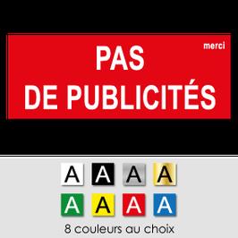 Plaque b. aux lettres