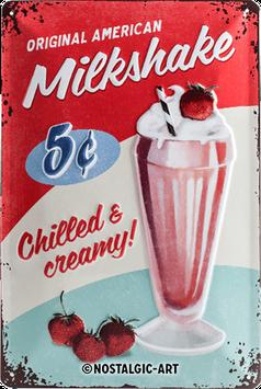 Milkshake USA, Tin Sign