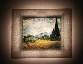 ゴッホ「糸杉のある麦畑」と和紙ックセット