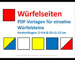PDF-Vorlagenheft 6: Einzelne grosse Würfelsteine - Für angeleitete Unterrichtssequenzen im Kreis