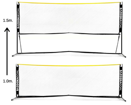 #BG007, Höhenverstellbares Soccer Tennis Net, Breite 300cm x 100cm, Höhe 100cm und 150cm
