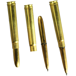 Black Ink .375 MAG Brass Bullet Pen All-Weather Pen