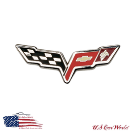Corvette C6 Label Pin - Corvette C6 Crossflags