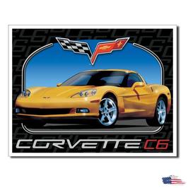 """#1248 - Corvette Blechschild """"Corvette C6"""""""