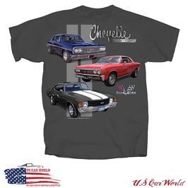 Chevrolet Chevelle T-Shirt - Chevrolet Chevelle Motiv - Dunkelgrau - SALE