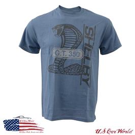 Shelby GT350 T-Shirt - Shelby GT350 Logo - Blau