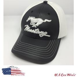 Ford Mustang Basecap - Mustang Running Horse - Mesh - Schwarz/Weiß