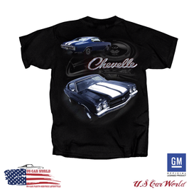 Chevrolet Chevelle T-Shirt - 1970 Chevelle SS - Super Sport - Schwarz